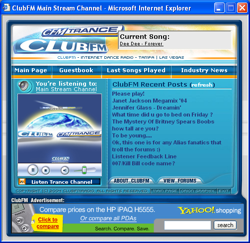 Club FM Media Player